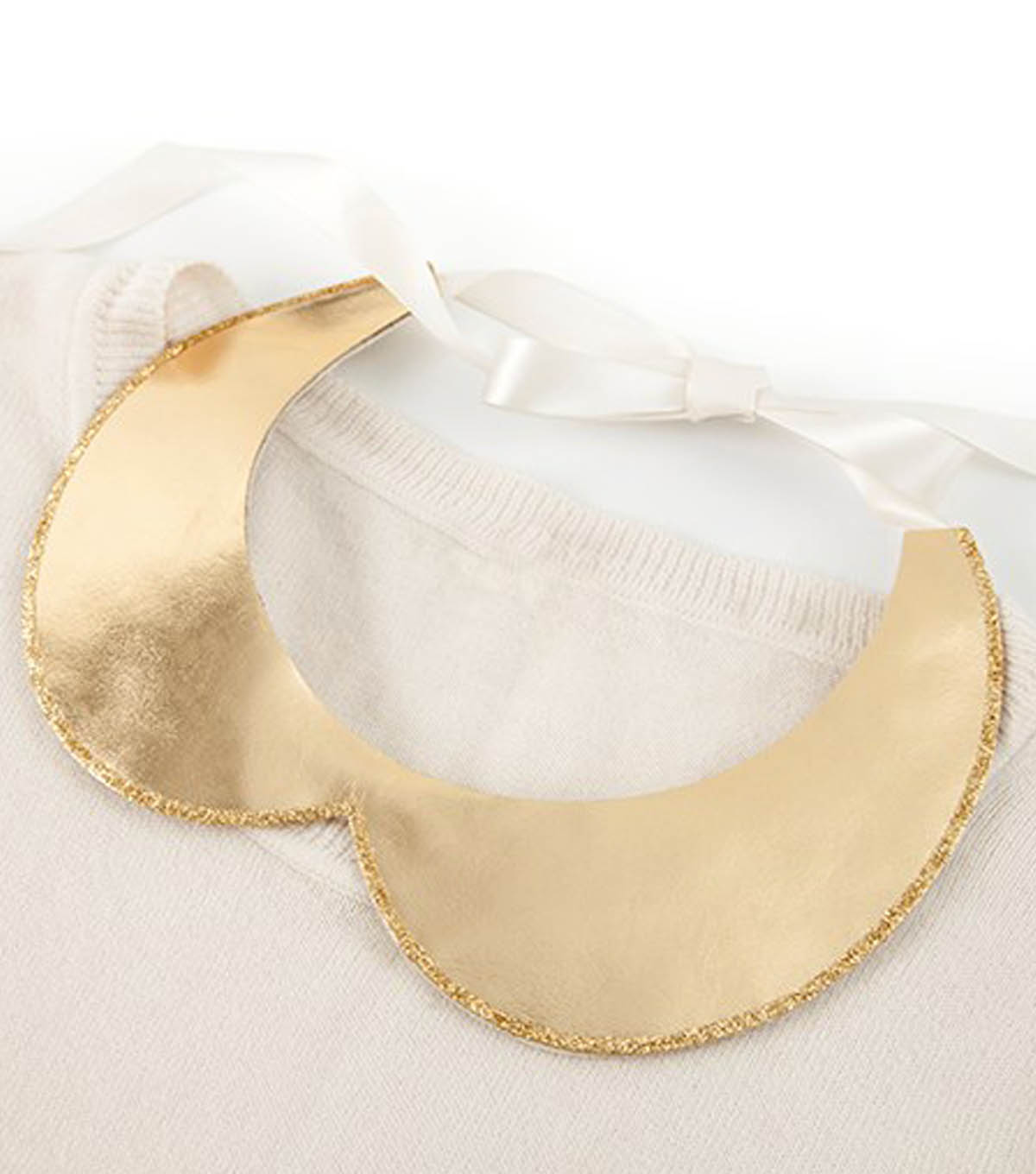 Gold Leather & Glitter Collar