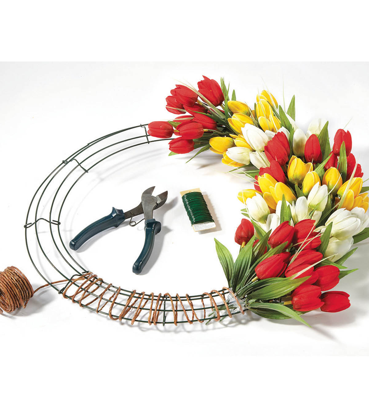 Make A Floral Wire Wreath Joann