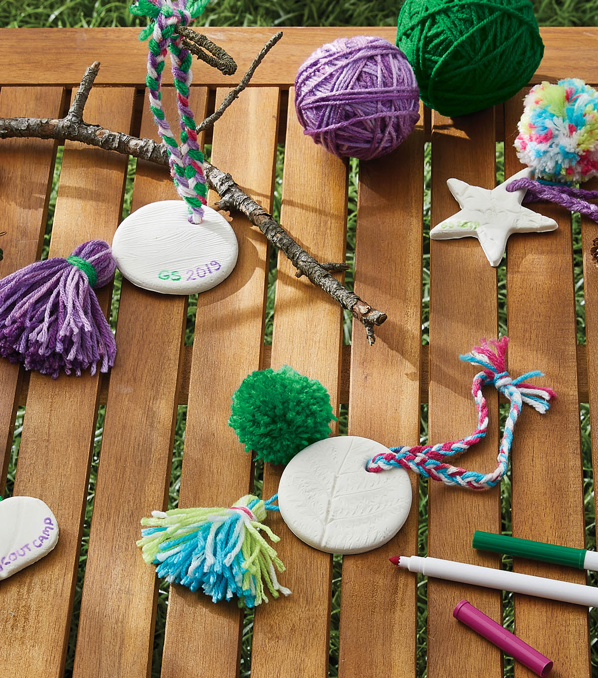 How To Make  Pressed Clay Hangings