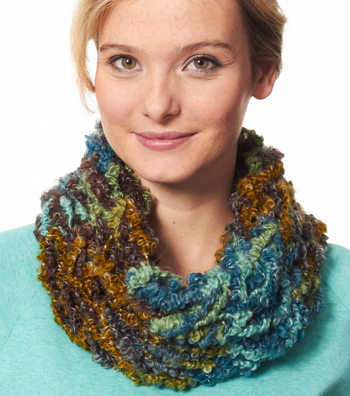 Turquoise Arm Knit Cowl