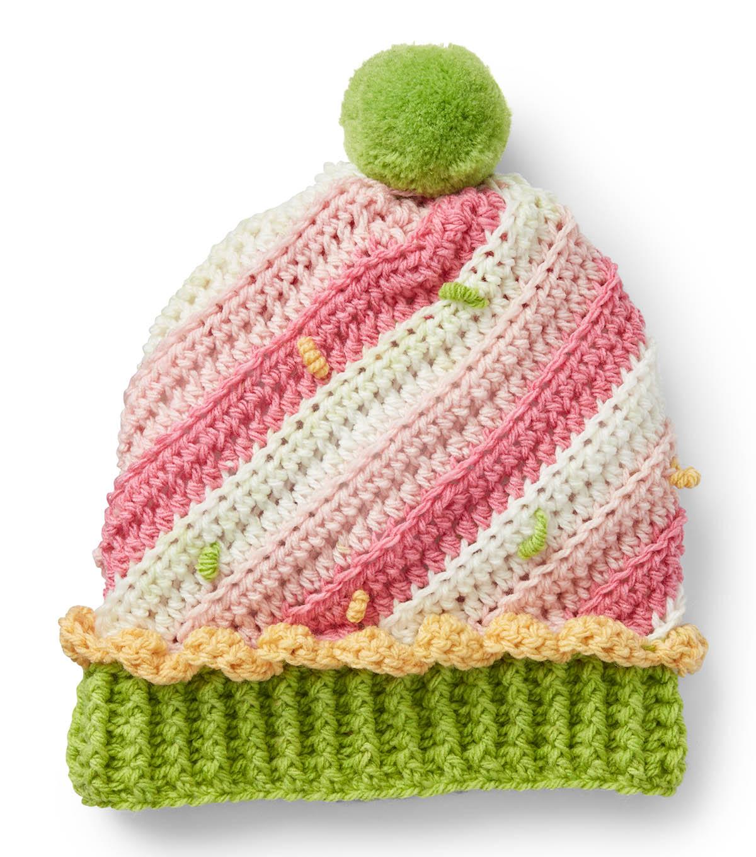 d868438ba6c How To Make A Caron Sweet Swirl Crochet Cupcake Hat