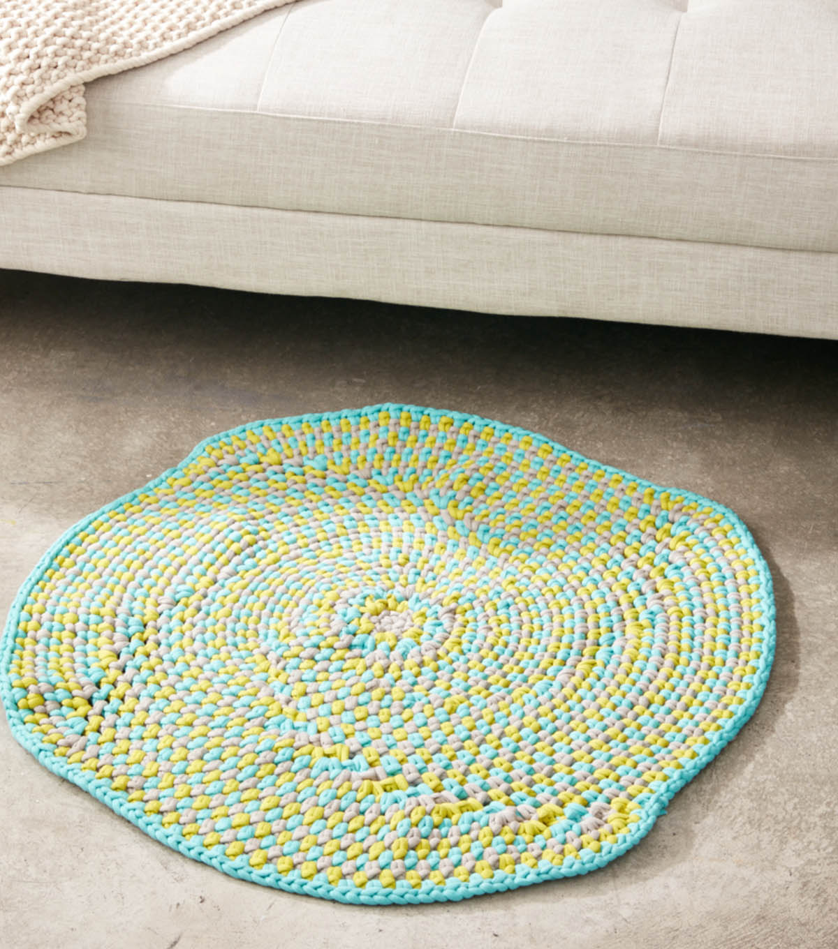 How To Make A Crochet Color Play Rug Blanket Joann The Colorplay