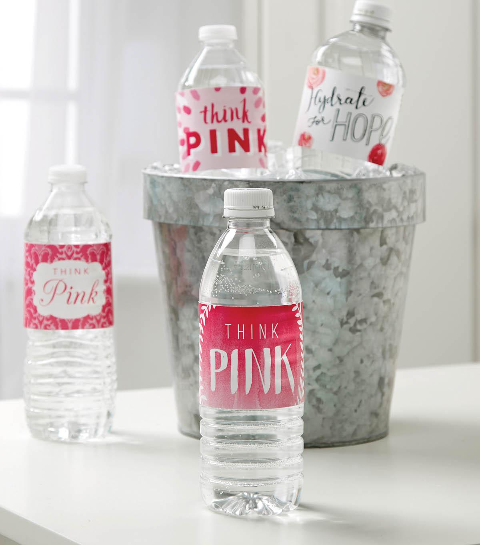 Pink Water Bottle Labels Joann