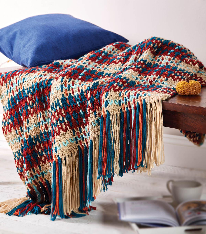how to make a woven plaid crochet blanket joann