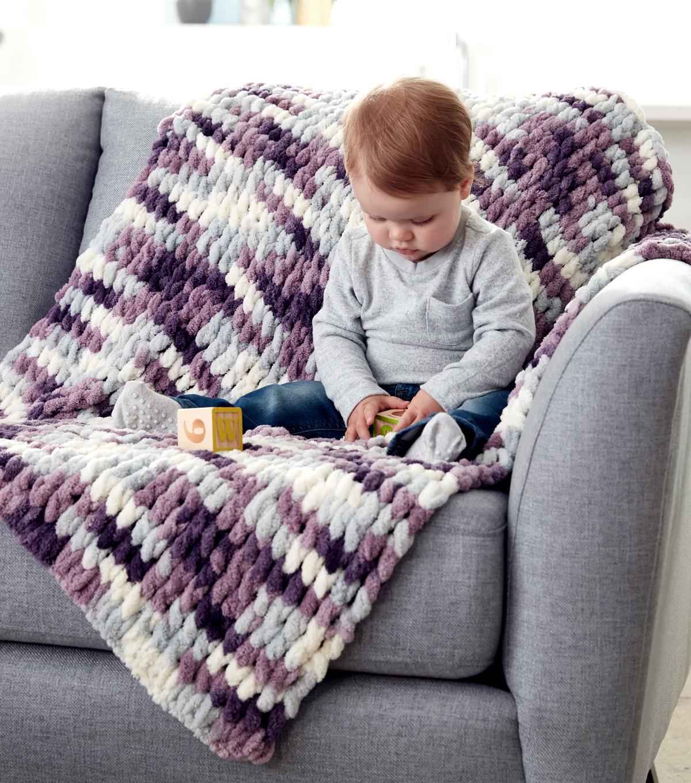 How To Make A Bernat Alize Blanket Ez Baby Blanket Joann