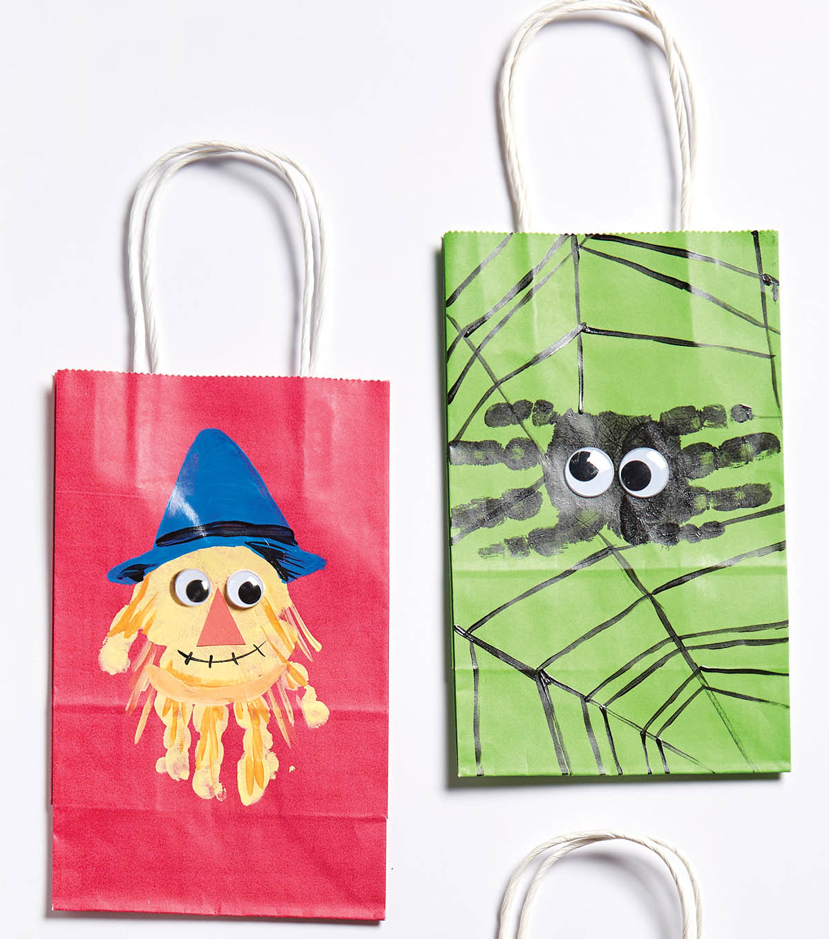Halloween Hand and Footprint Treat Bags