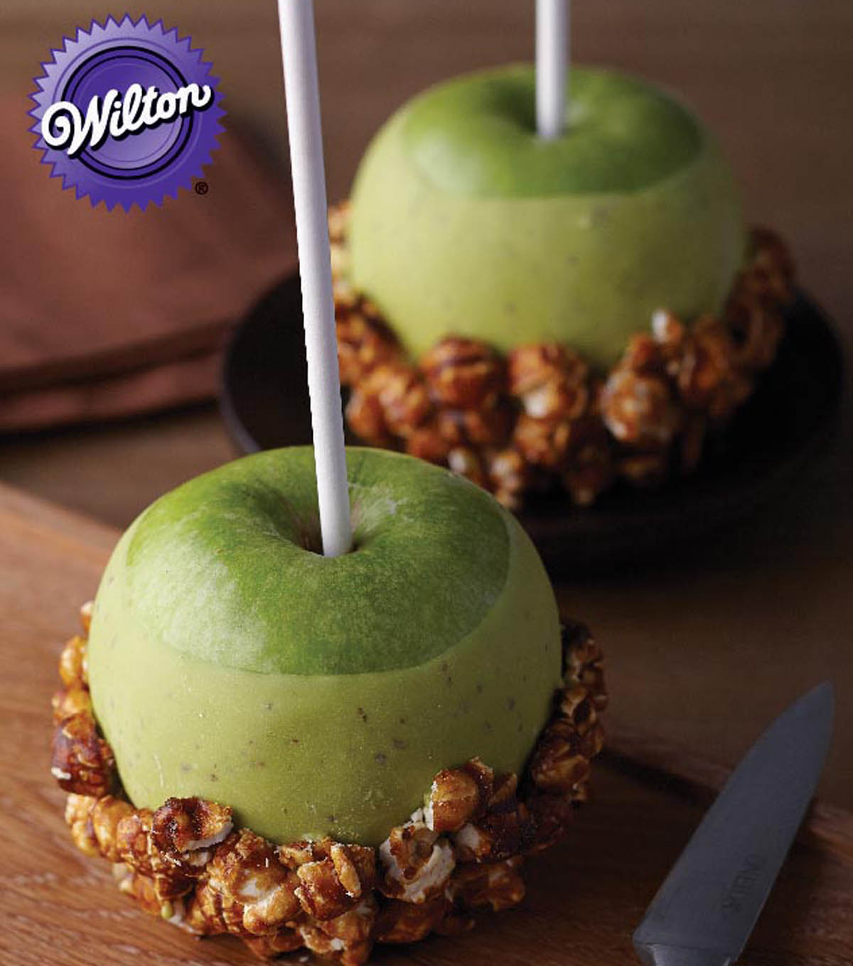 Get Poppin\u0027 Caramel Corn Candy Apples