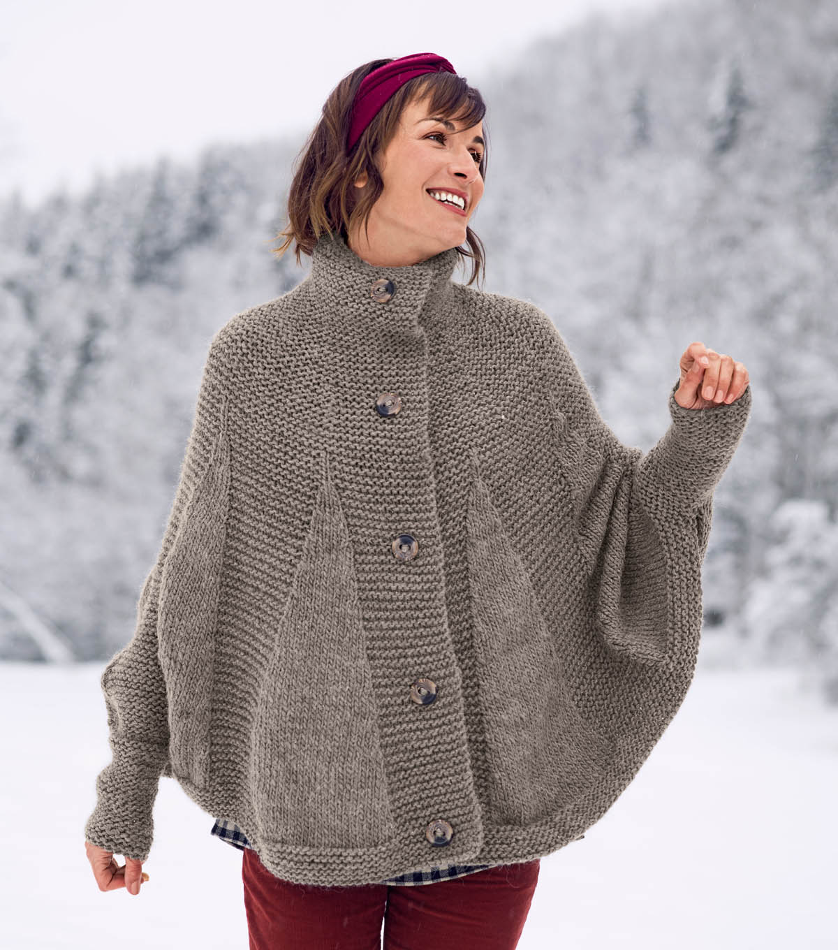 How To Knit a Poncho Cape | JOANN