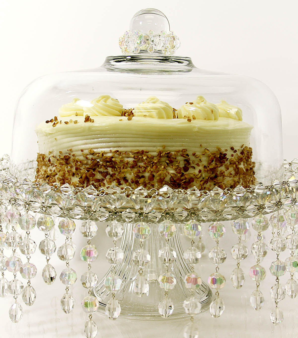 Beaded Crystal Cake Stand