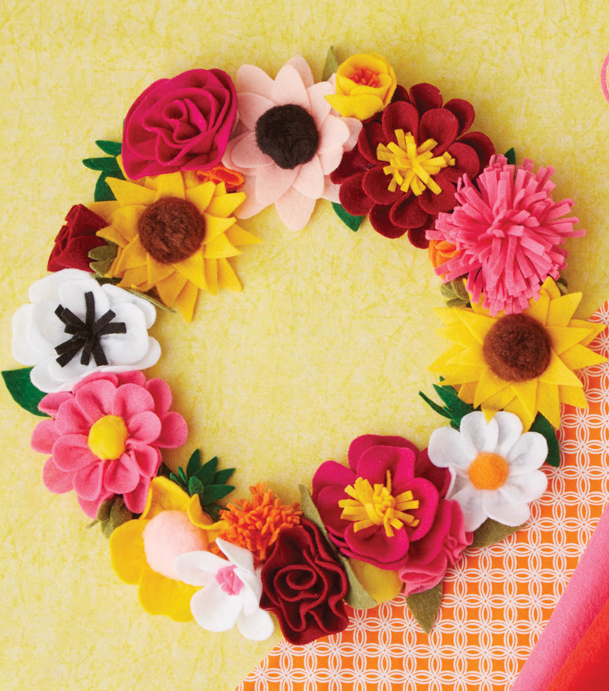 How to Make a Felted Rose Wreath