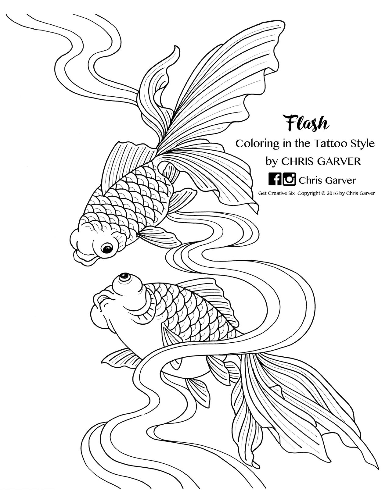 Flash Coloring In The Tattoo Style Book Printables