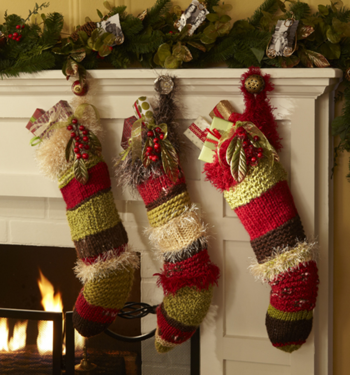 Knitted Christmas Stockings - DIY Projects | JOANN