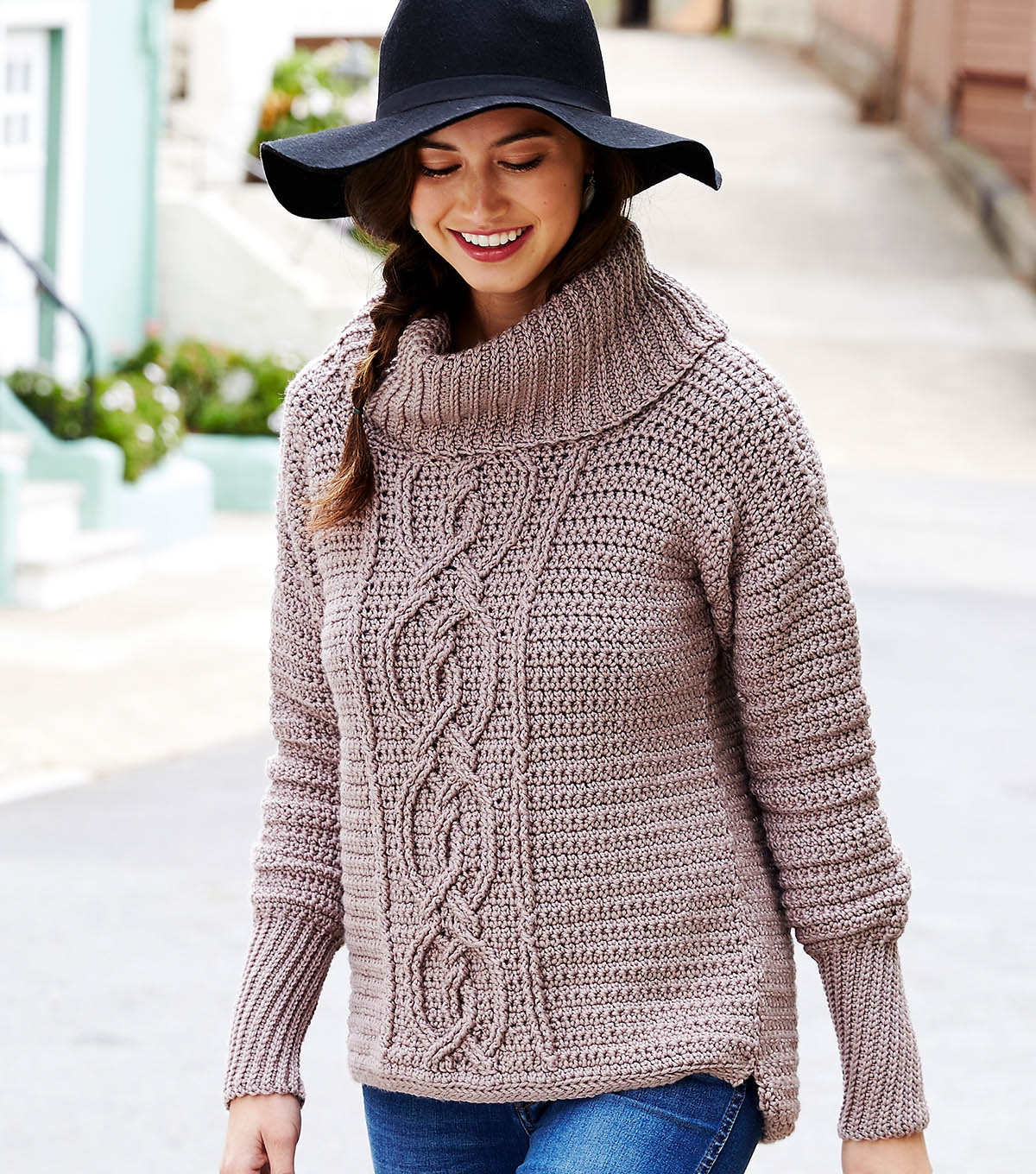 How To Crochet An Entwined Chic Cable Sweater Joann