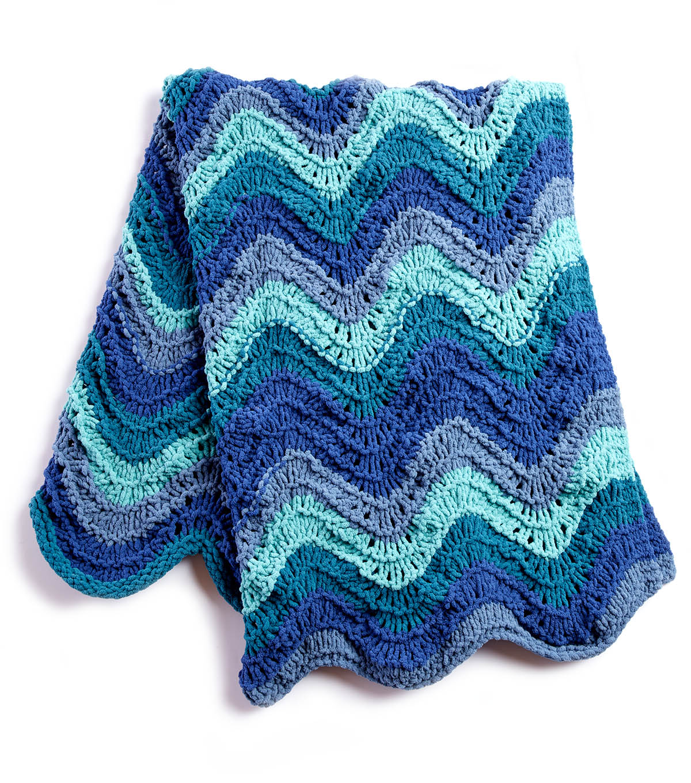 How To Make A Ripple Stripes Knit Blanket | JOANN