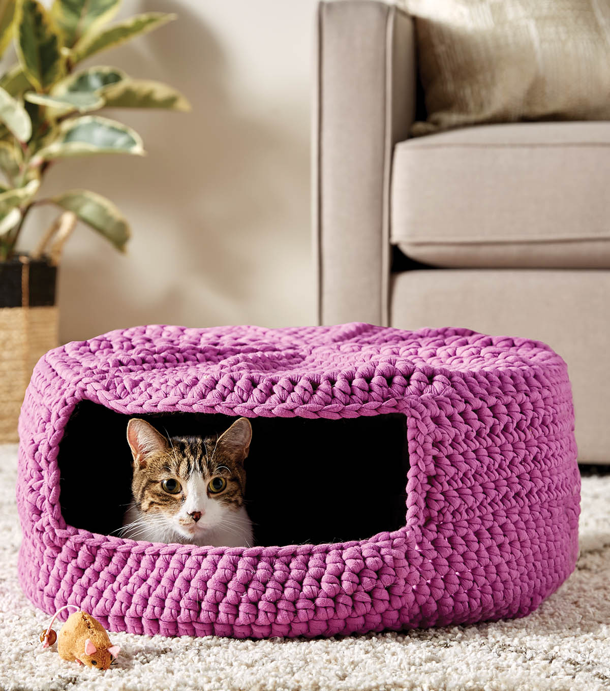 How To Make A Crochet Cat Bed