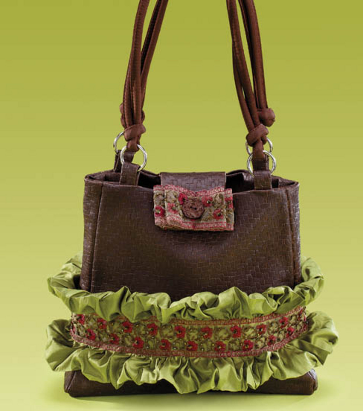 Ruffled Trim Handbag