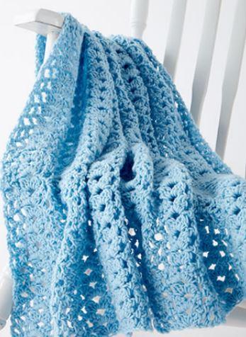 Cluster Waves Crochet Baby Blanket Joann