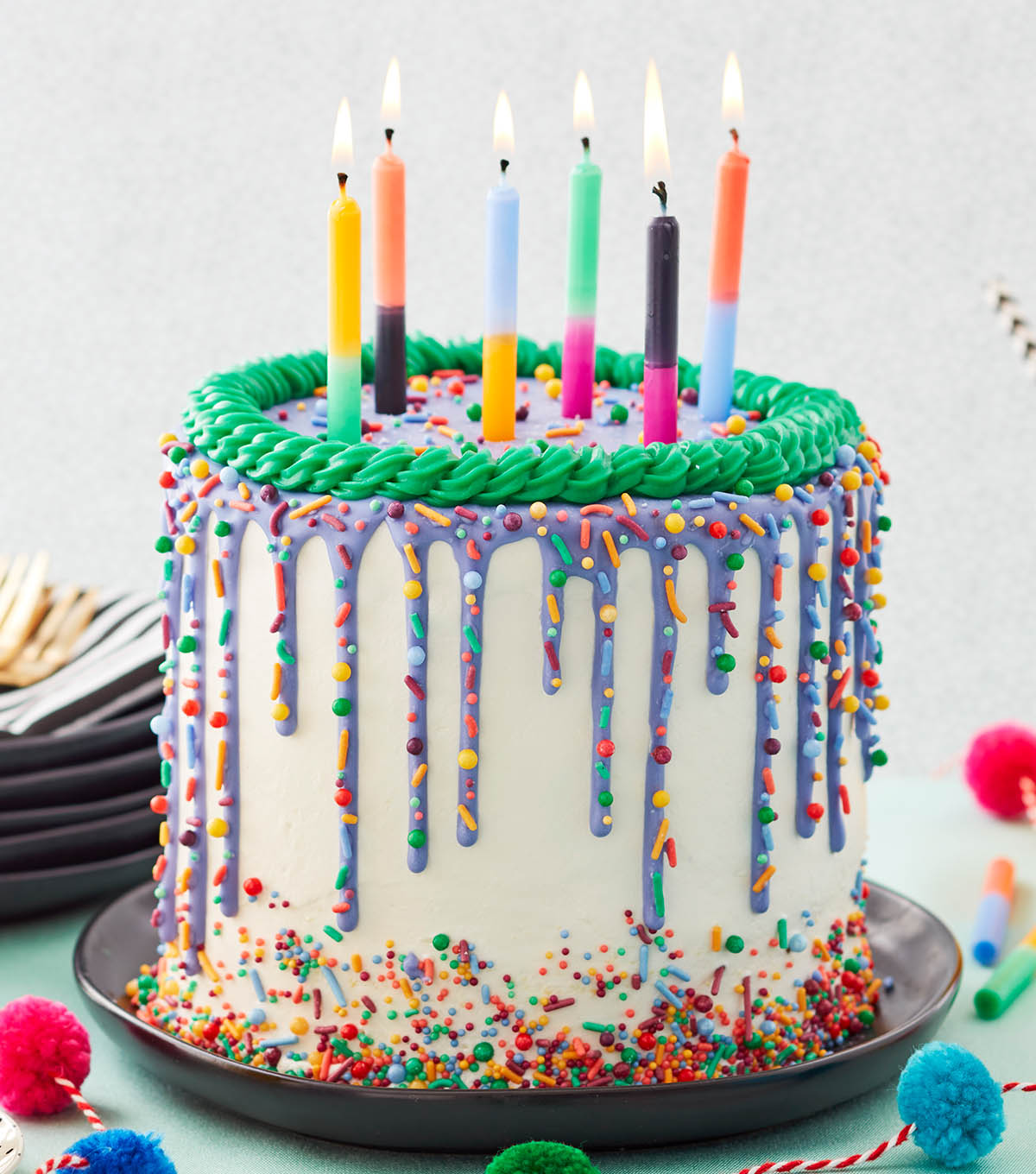 Excellent How To Make A Bright And Bold Drip Birthday Cake Joann Funny Birthday Cards Online Necthendildamsfinfo