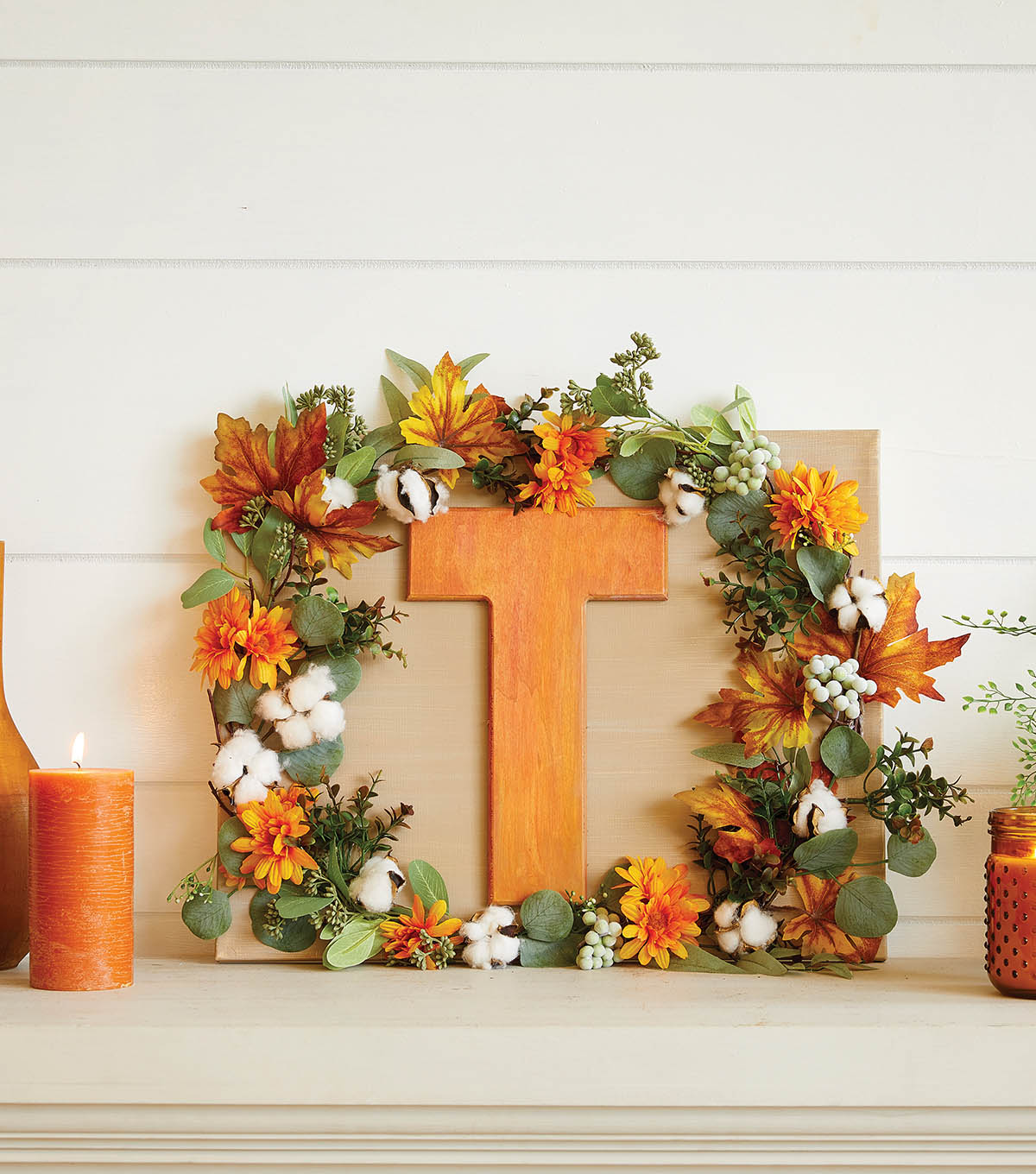 How To Make a Garland Fall Letter Sign