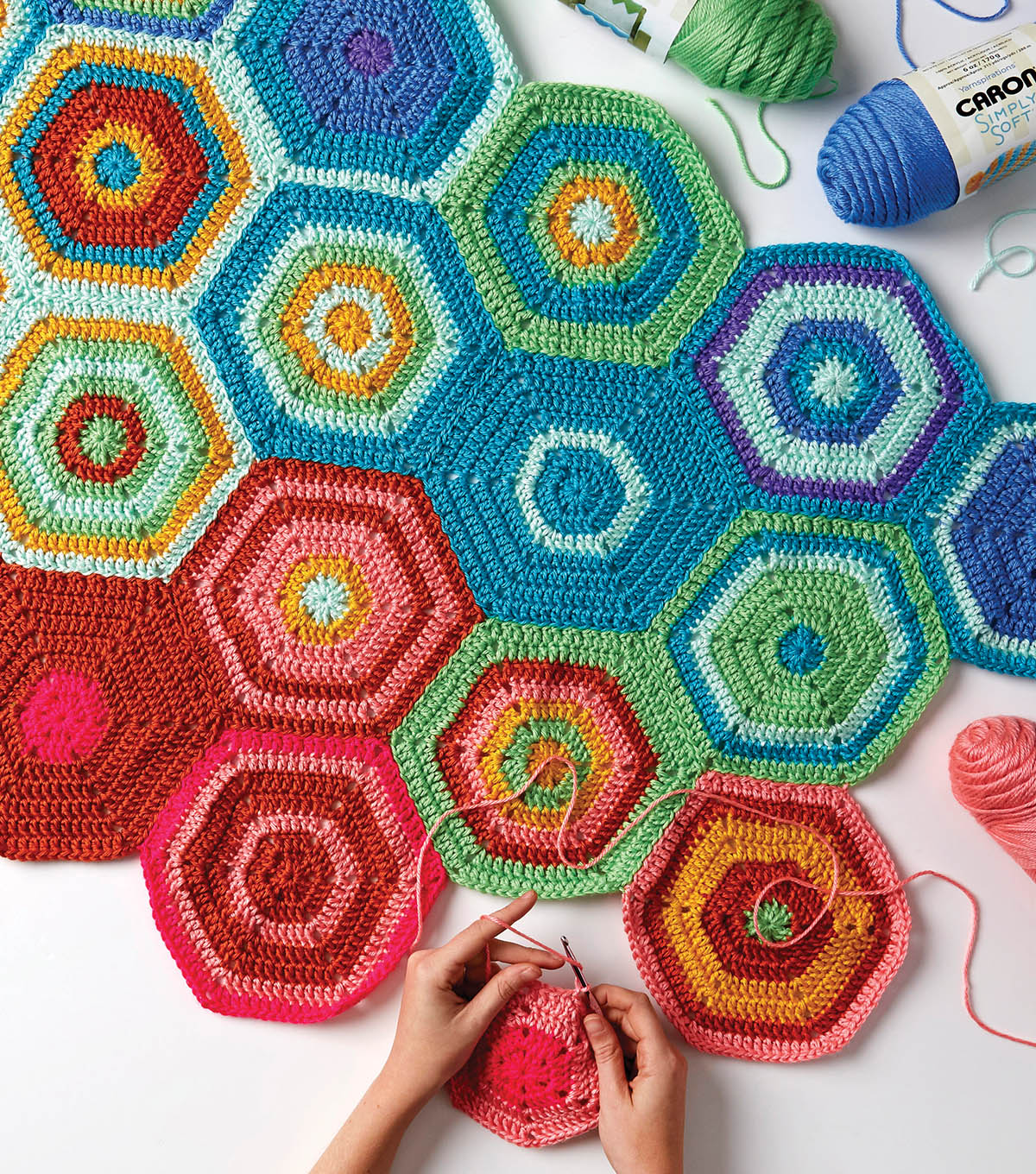 How To Make A One A Day Crochet Hexagon Temperature Blanket Joann