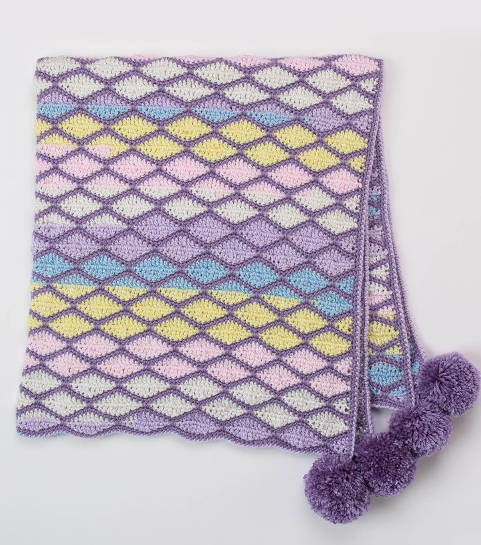 How To Make A Wavy Brick Road Crochet Baby Blanket Joann