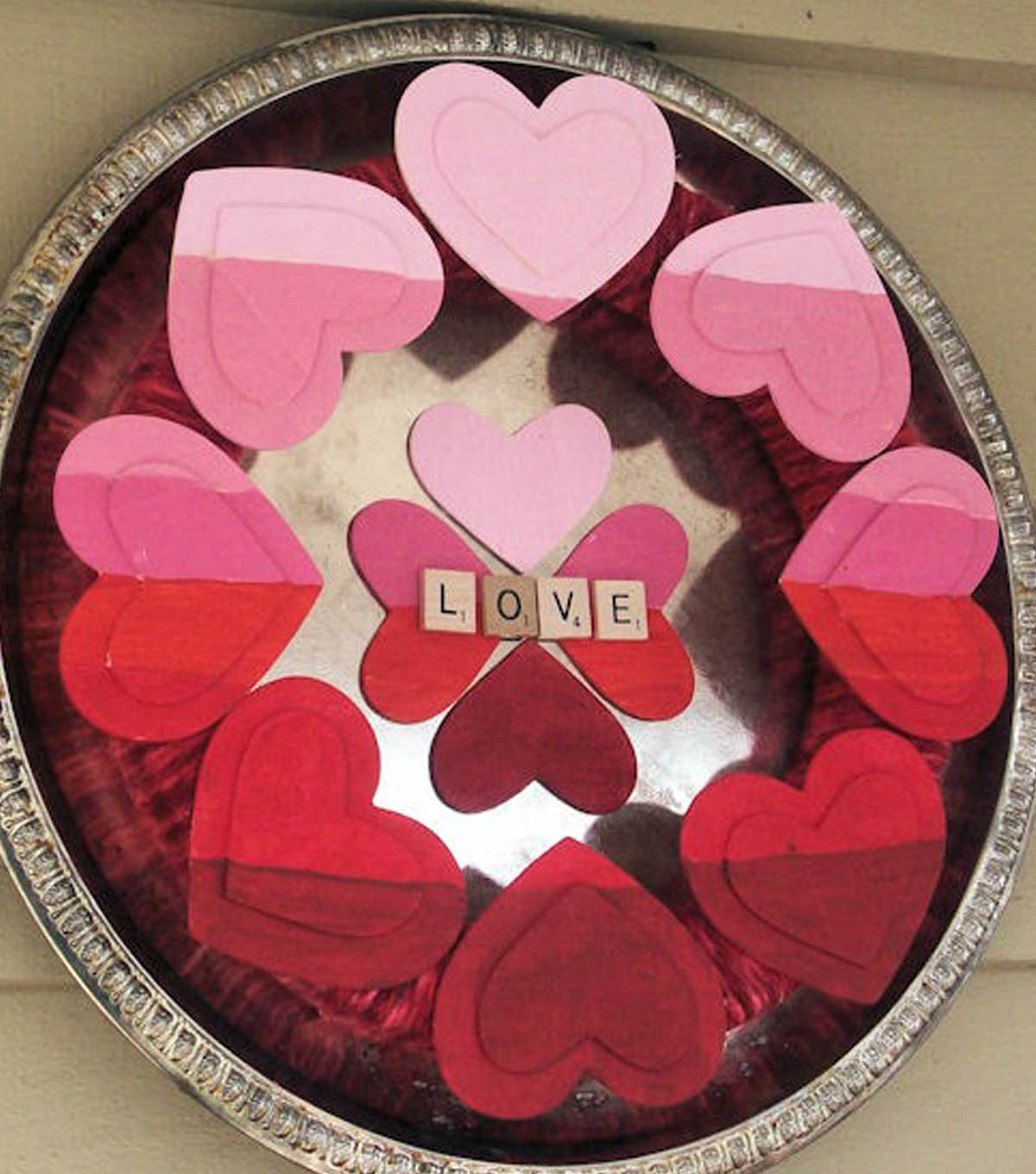 Karen\u0027s Ombre Painted Valentines Wreath