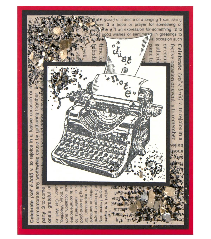 Vintage Typewriter Card Joann