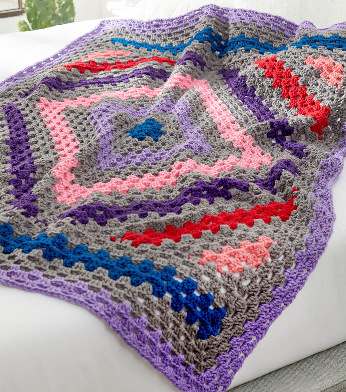How To Make A Diamond in the Rough Crochet Throw | JOANN