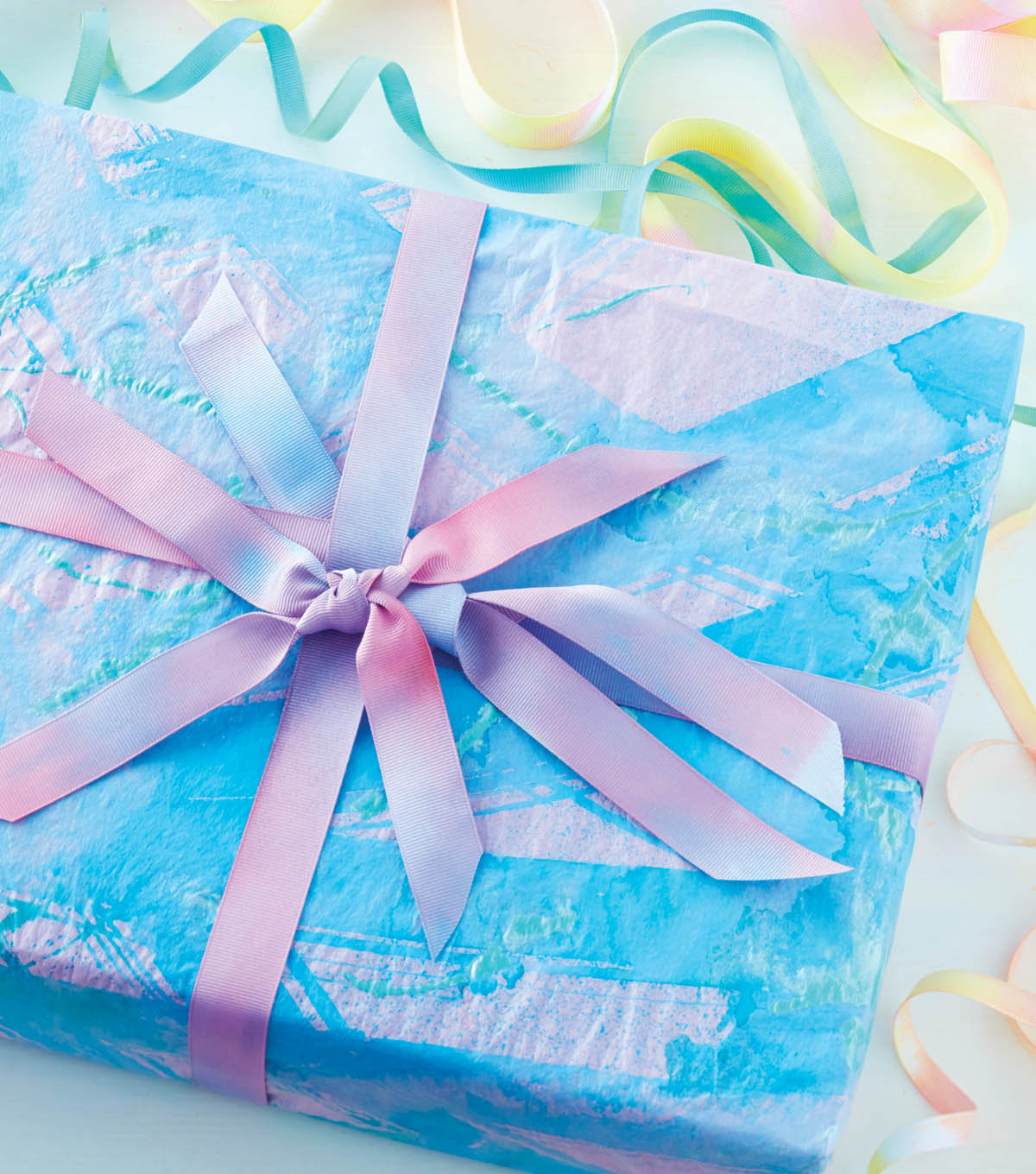 How To Make Tie Dye Gift Wrap