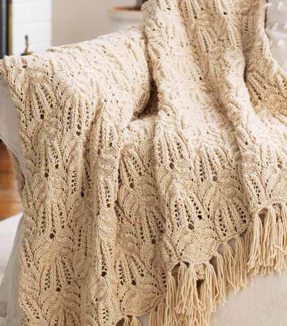 Lace and Cable Afghan | JOANN