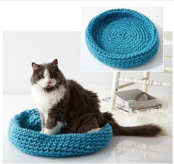 How to Hand Crochet a Cat Bed With Ohhio Braid   Ohhio   566x598