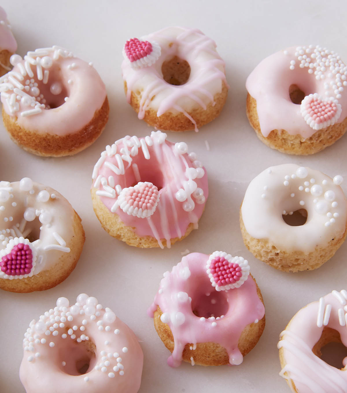 How To Make Mini Valentine's Day Donuts