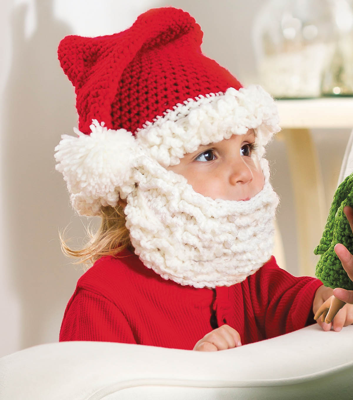 Santa Hat and Beard for Kids  d7d222359108