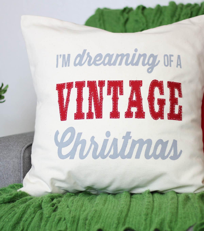 vintage inspired christmas pillow - Christmas Pillows