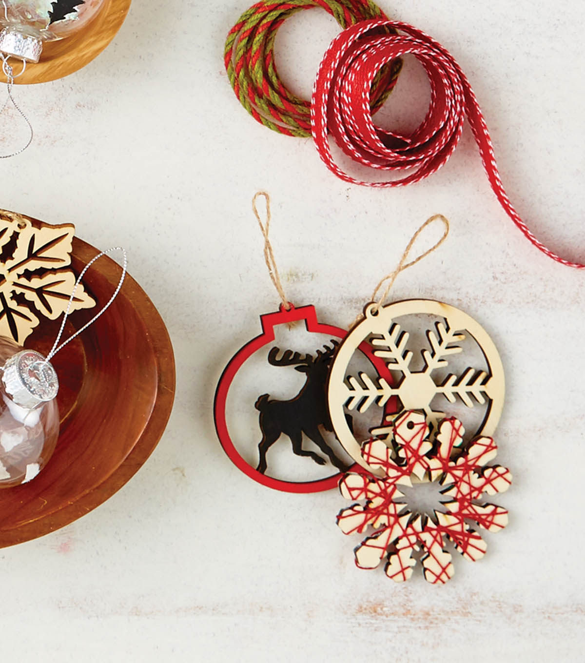 how to craft laser cut wood ornaments - Wooden Laser Cut Christmas Decorations