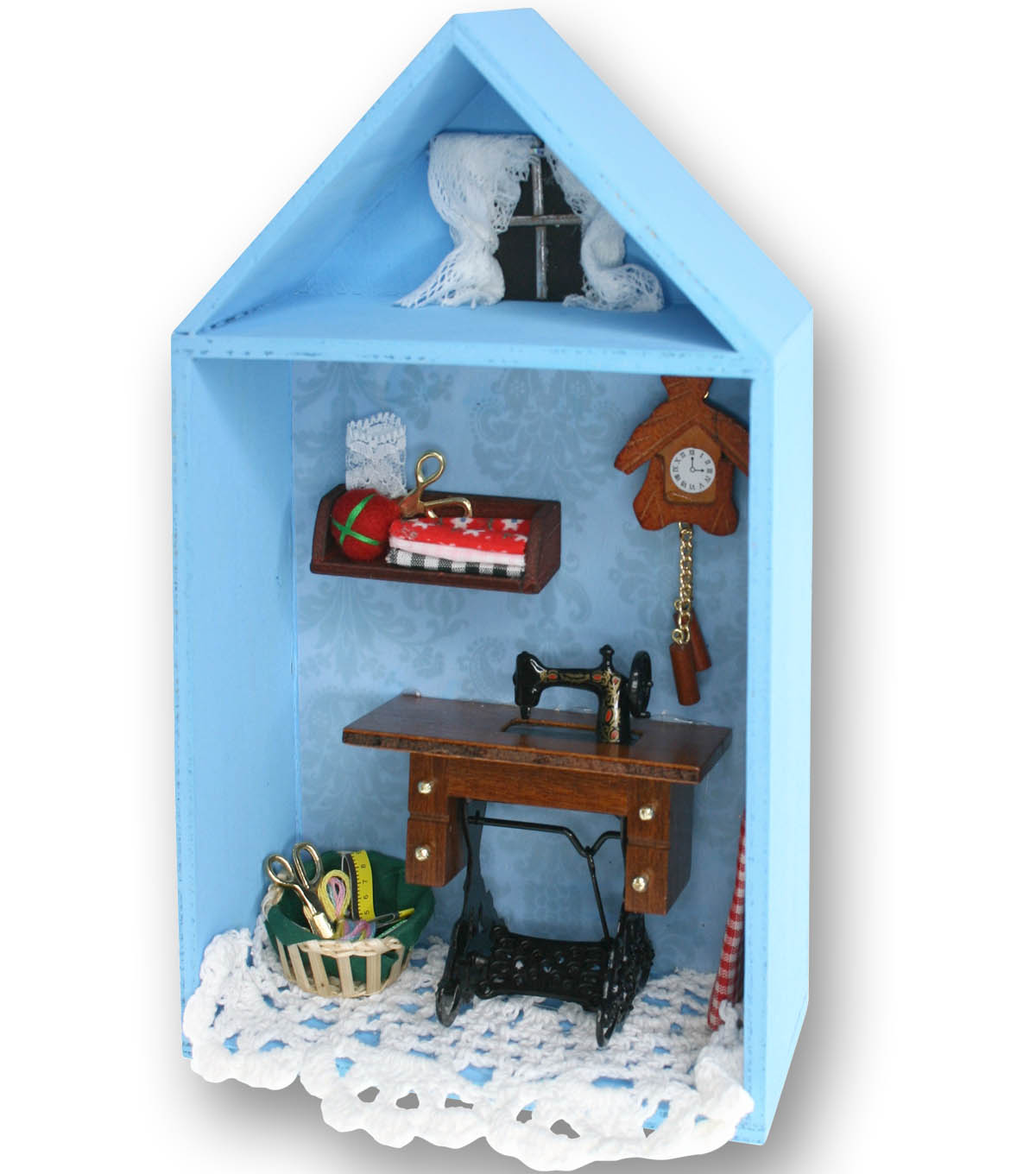 Sewing Room Miniature Display box