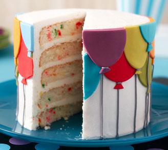Fantastic Birthday Balloons Layered Cake Joann Funny Birthday Cards Online Elaedamsfinfo
