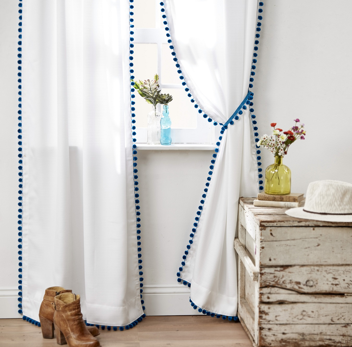 DIY Pom Curtains
