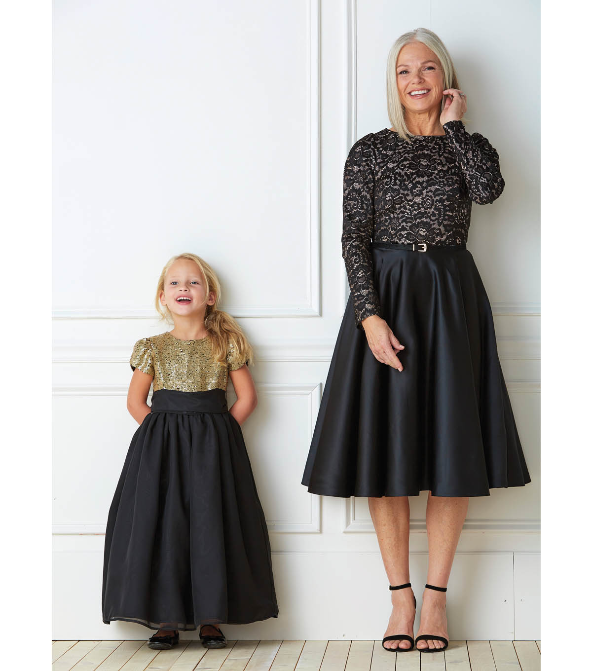 Glitzy Dresses For Granddaughters And Grandmother Joann