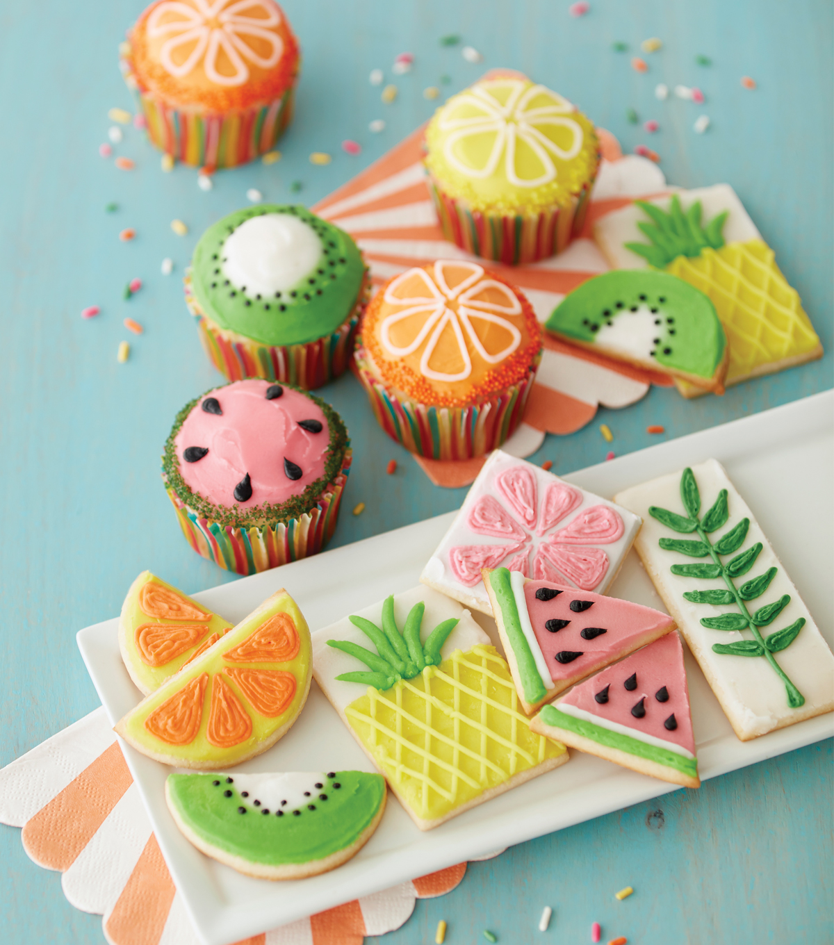 How To Make Fruits of Summer Cupcakes and Cookies