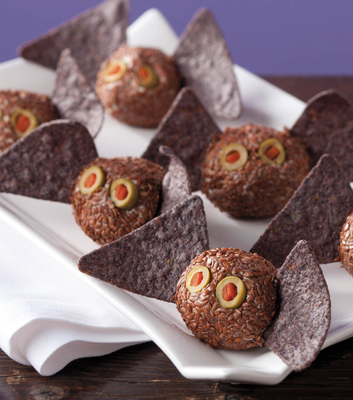 Mini Batty Cheese Balls | Halloween Appetizers That Are Dreadfully Inviting | Homemade Recipes